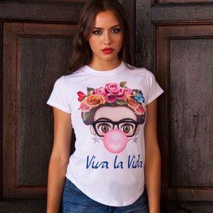 Viva La Vida Bubble Gum Frida Shirt S,M,L,XL,2XL